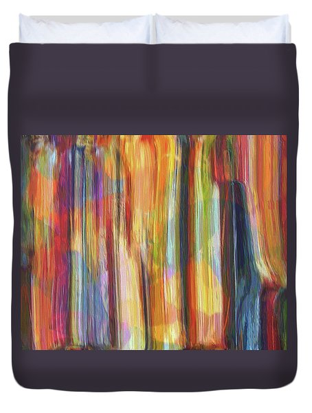 Textured Abstract Number 5 Duvet Cover