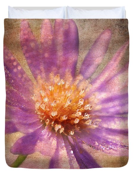 Textured Aster Duvet Cover by Lois Bryan