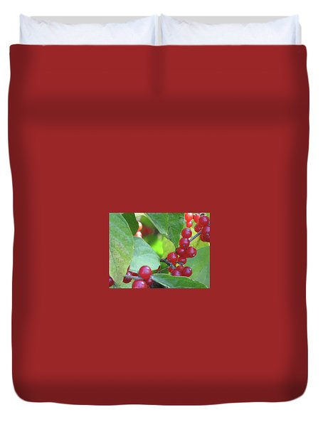 Textured Berries Duvet Cover
