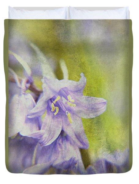 Textured Bluebells Duvet Cover