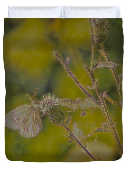 Textured Butterfly 1   Duvet Cover
