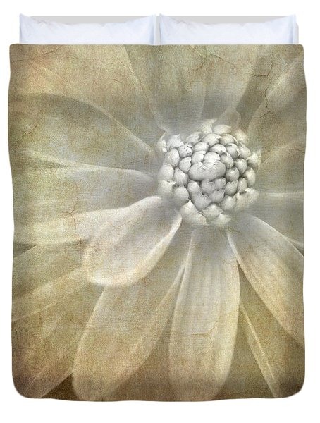 Textured Dahlia Duvet Cover