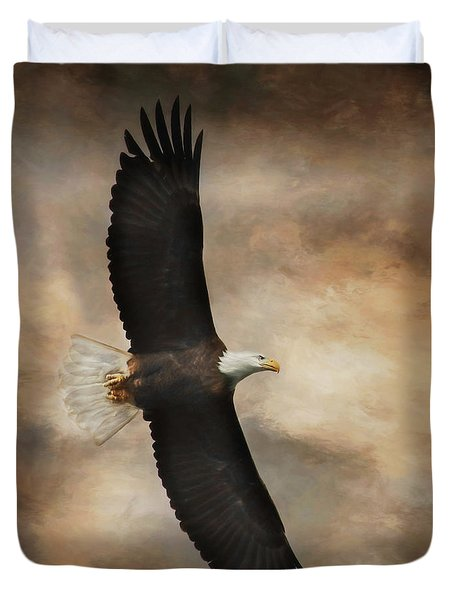 Textured Eagle Duvet Cover