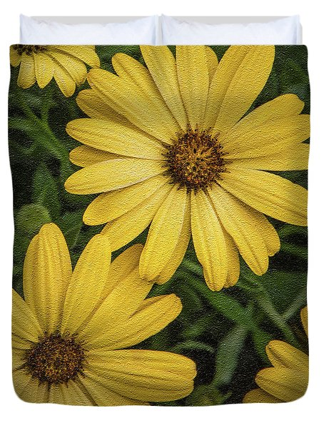 Textured Floral Duvet Cover