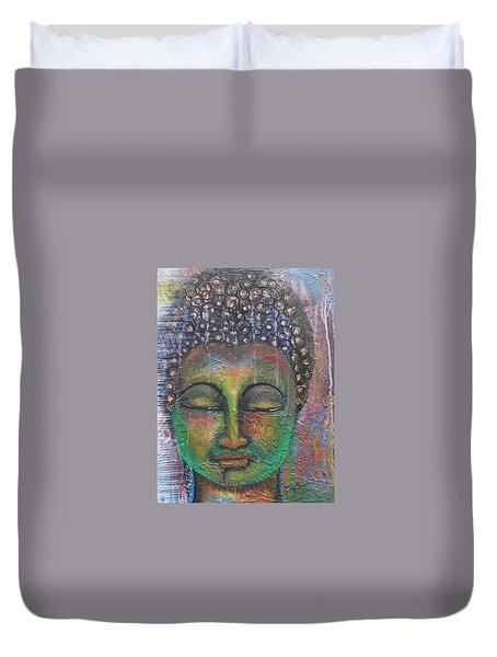 Textured Green Buddha Duvet Cover