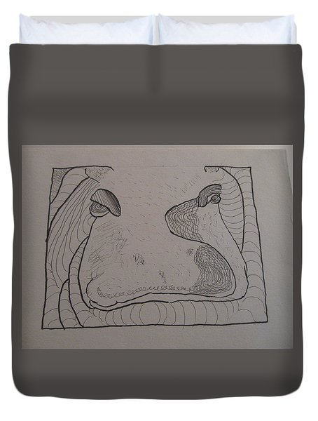 Textured Hippo Duvet Cover