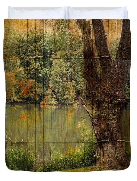 Textured Landscape Duvet Cover