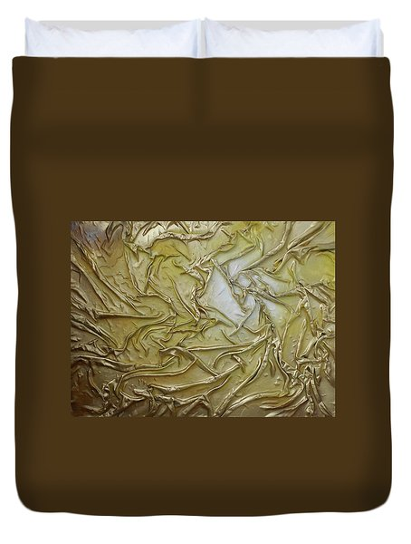 Textured Light Duvet Cover by Angela Stout