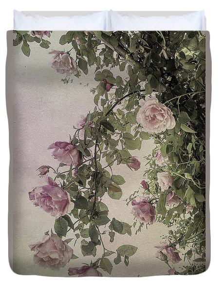 Textured Roses Duvet Cover