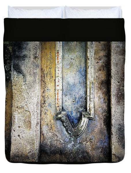 Duvet Cover featuring the photograph Textured Wall by Marion McCristall