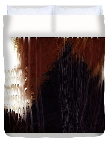 Duvet Cover featuring the digital art Textures by Constance Krejci