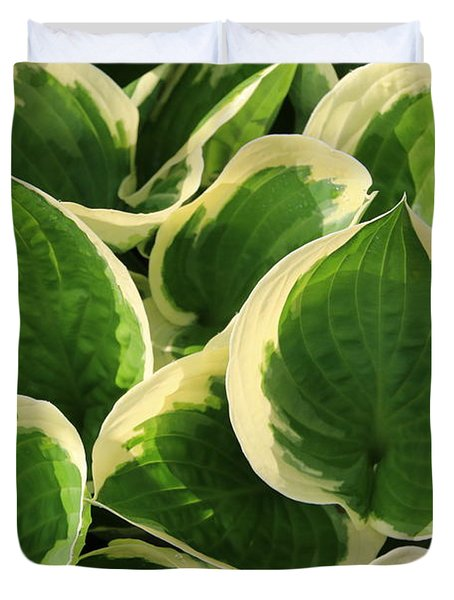 Textures In Leaves Duvet Cover
