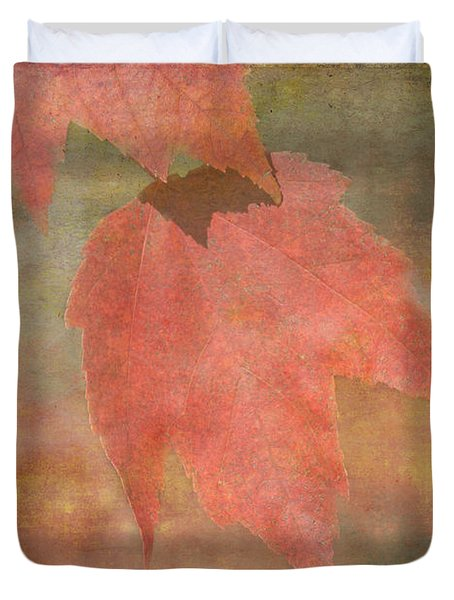 Textures Of Fall Duvet Cover