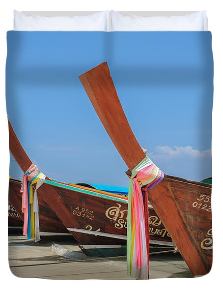 Thai Chariots Duvet Cover