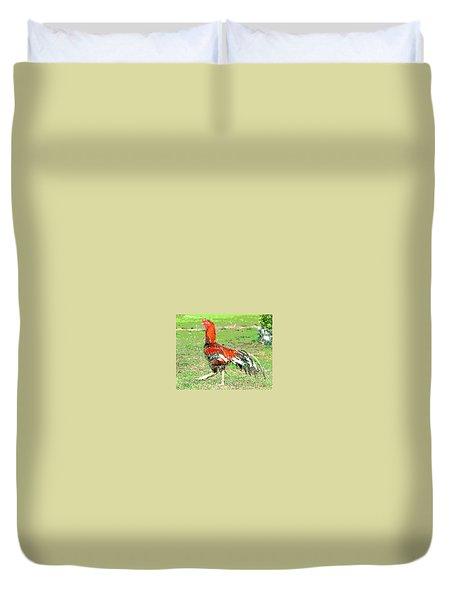 Thai Fighting Rooster Duvet Cover