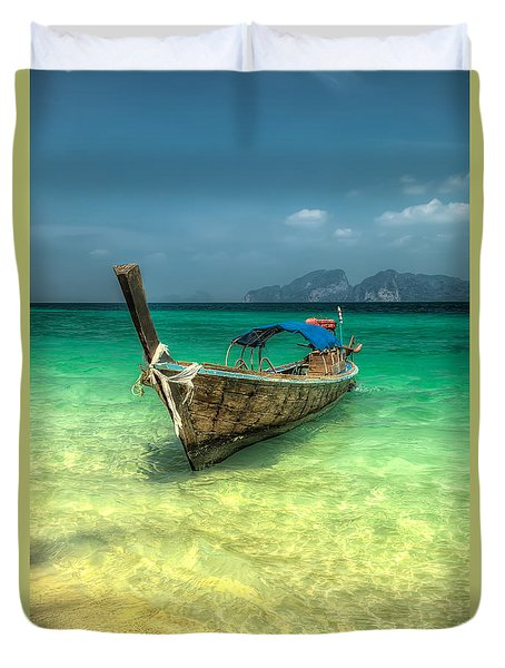 Thai Longboat  Duvet Cover