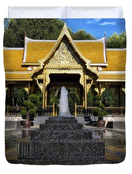 Thai Pavilion - Madison - Wisconsin Duvet Cover