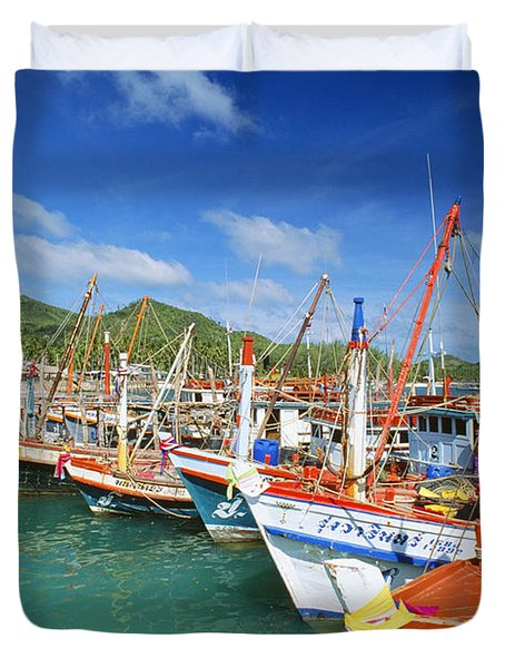 Thailand, Koh Phangan Duvet Cover by William Waterfall - Printscapes