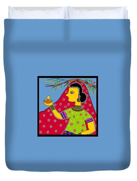 Thamasoma Jyothirgamaya Duvet Cover