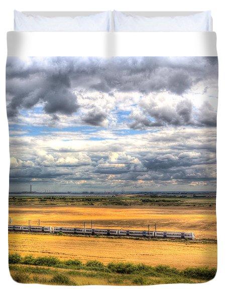 Thames Estuary View Duvet Cover