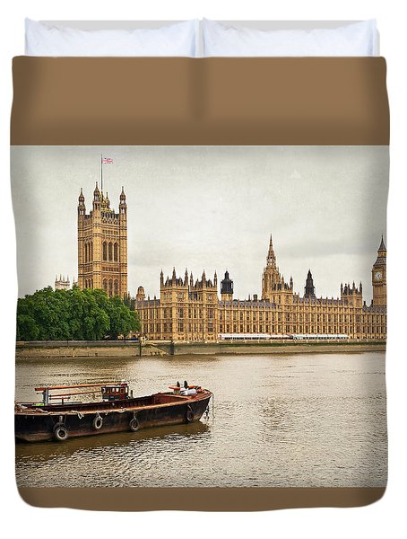 Duvet Cover featuring the photograph Thames by Keith Armstrong