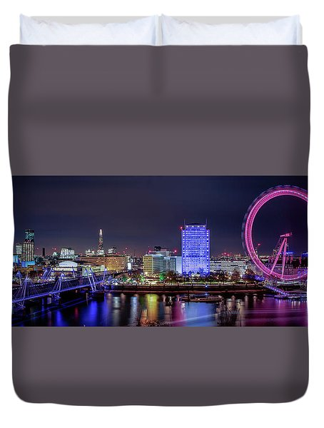 Thames Panorama Duvet Cover