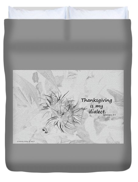 Thanks Giving Duvet Cover