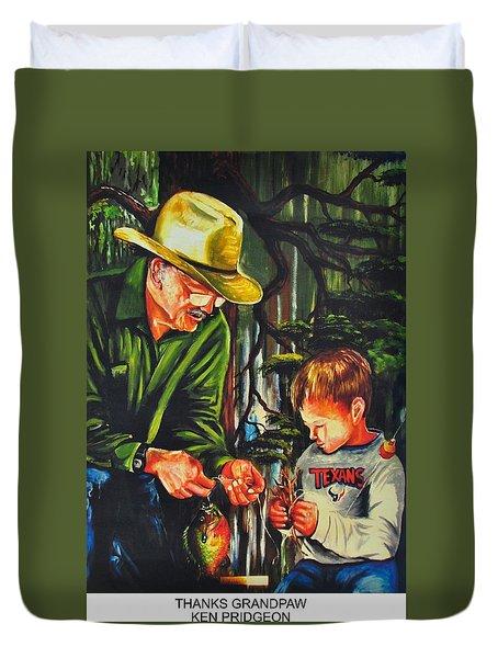 Thanks Grandpaw Duvet Cover