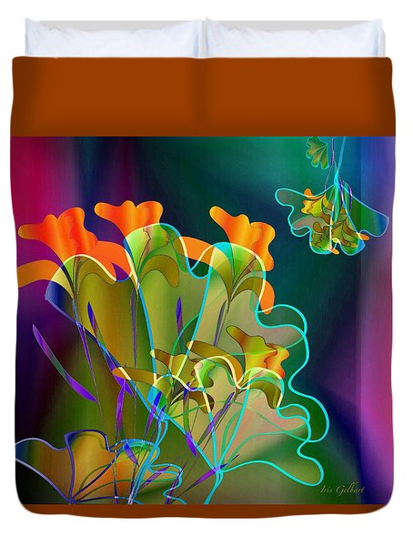 Thanksgiving Bouquet Duvet Cover by Iris Gelbart