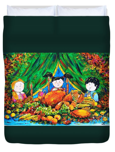 Thanksgiving Day Duvet Cover