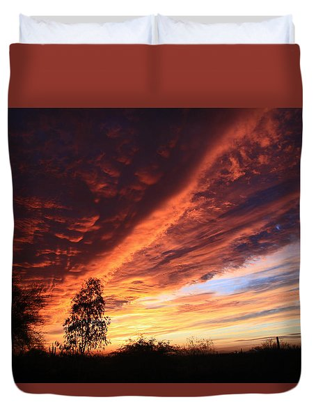 Thanksgiving Sunset Duvet Cover