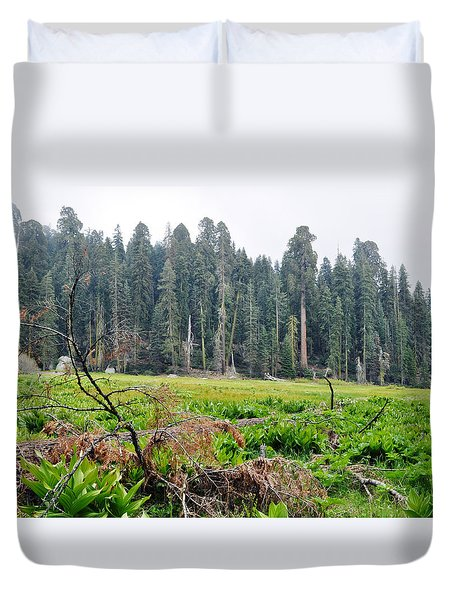 Duvet Cover featuring the photograph Tharps Log Meadow by Kyle Hanson