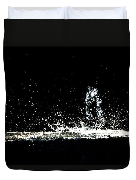 That Falls Like Tears From On High Duvet Cover by Bob Orsillo
