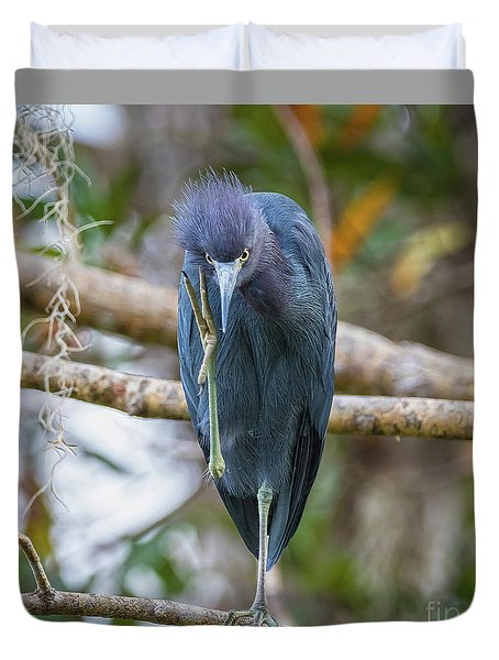 That Feels Great - Little Blue Heron Duvet Cover