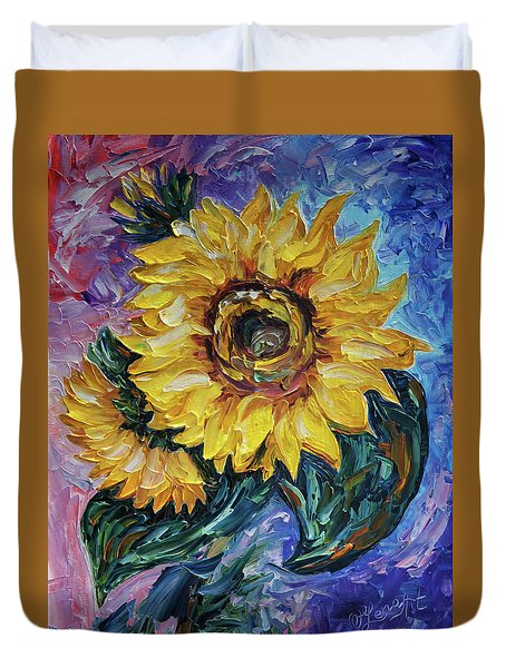 That Sunflower From The Sunflower State Duvet Cover