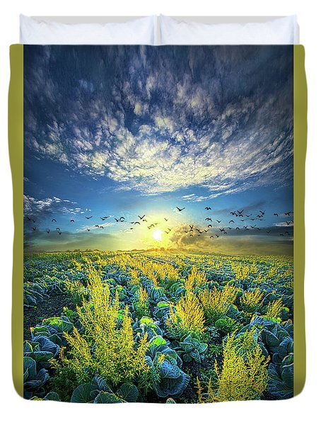 That Voices Never Shared Duvet Cover by Phil Koch