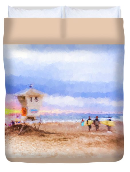 That Was Amazing Watercolor Duvet Cover