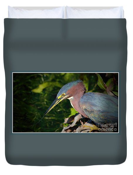 Duvet Cover featuring the photograph That Was Tasty by Pamela Blizzard