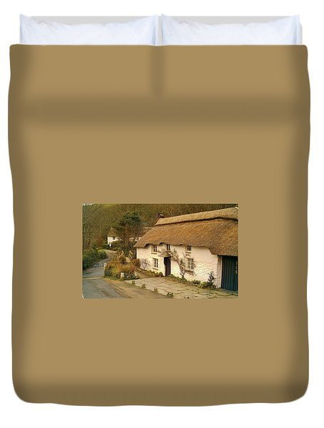 Thatched Cottage By Ford  Duvet Cover