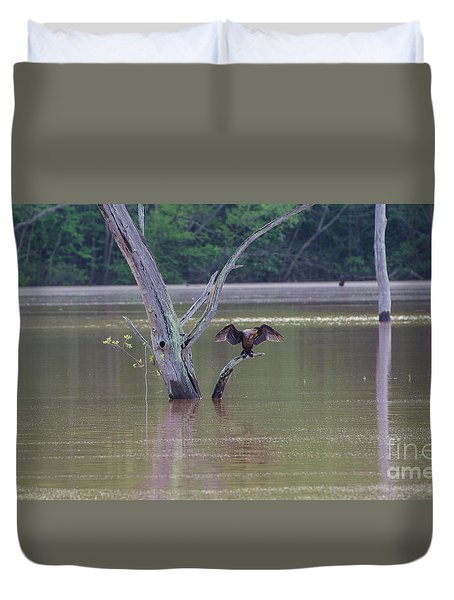 Duvet Cover featuring the photograph That's My Reflection by Donna Brown
