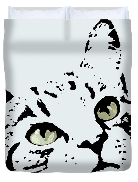 Thats Willie Pet Portrait Duvet Cover