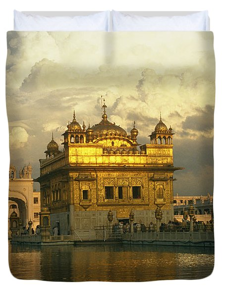 The 16-th Century Golden Temple Duvet Cover