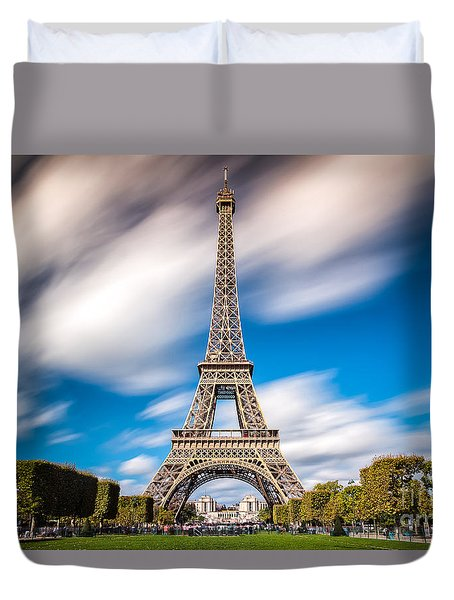 The 1665 Steps Climb Duvet Cover by Giuseppe Torre
