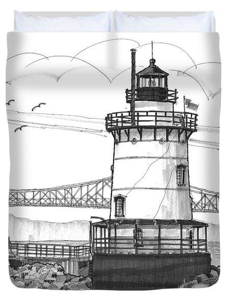 The 1883 Lighthouse At Sleepy Hollow Duvet Cover