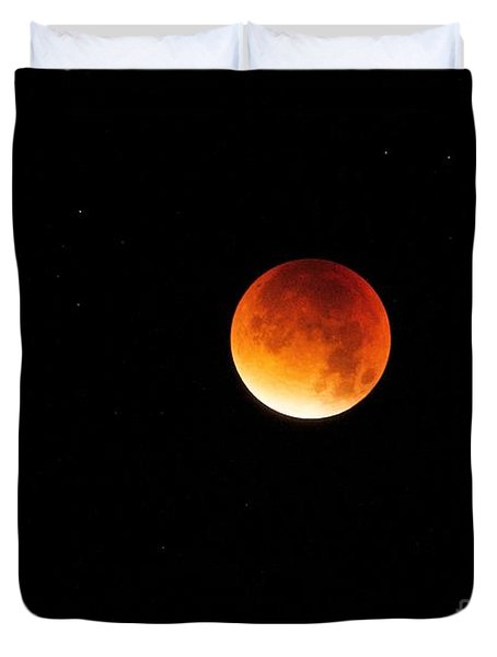 The 2015 Blood Moon  Duvet Cover