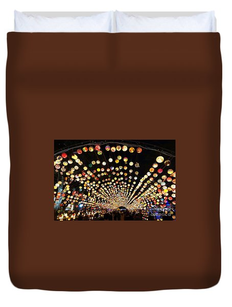 The 2017 Lantern Festival In Taiwan Duvet Cover