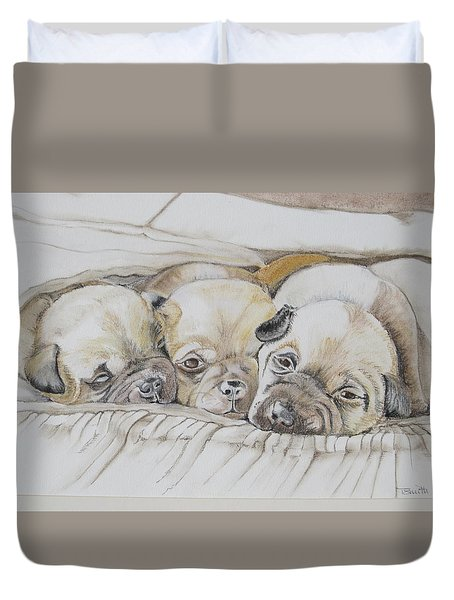 The 3 Puppies Duvet Cover