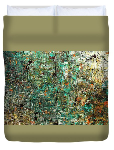 Duvet Cover featuring the painting The Abstract Concept by Carmen Guedez