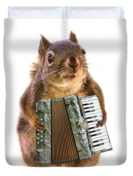 The Accordion Player Duvet Cover