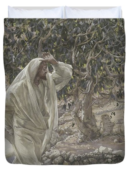 The Accursed Fig Tree Duvet Cover by Tissot